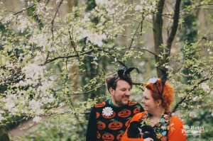 London Stoke Newington Abney Park Cemetery Engagement Shoot | Alternative and Creative Wedding Photography by We Heart Pictures London, UK & Destination