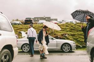 Loch Coruisk Humanistic Wedding | Alternative Wedding Photographer | Elgol | Bride with trekking Shoes