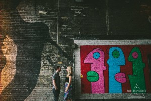 Street Art, London, Couple in Love on a photoshoot, Creative and quirky Wedding Photography