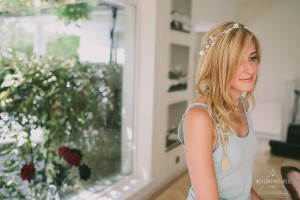 Creative Wedding Photographer, Bride ready to get her dress on